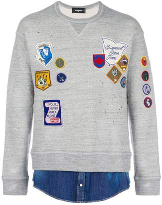 DSQUARED2 embroidered badge sweatshirt