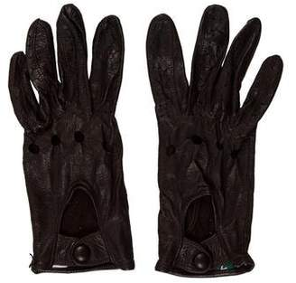 Sermoneta Gloves Perforated Leather Gloves