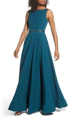 Mac Duggal Beaded Waist Gown