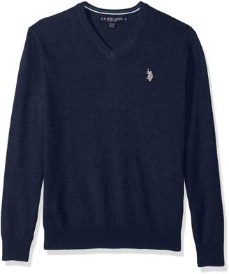 U.S. Polo Assn. Men's Stretch Fabric Solid V-Neck Sweater