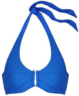 Heidi Klein Muscat Cobalt Halterneck Bikini Top D-G