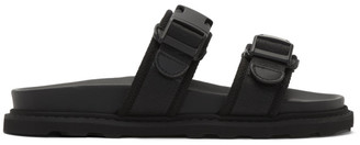 Bottega Veneta Black Logo Sandals