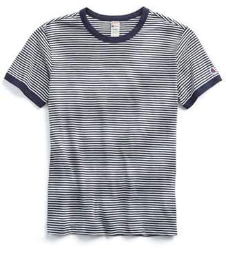 Todd Snyder + Champion Champion Striped Tee In Navy