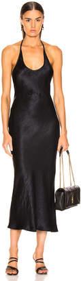 Georgia Alice Halter Dress in Black | FWRD