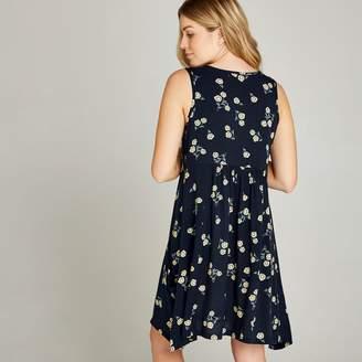 f5f00d12c7ad6 Apricot Navy Daisy Print Two Pocket Bakery Dress