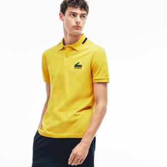 Lacoste Men's Slim Fit Graphic Print Stretch Mini Pique Polo