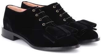 Rochas Velvet Oxford shoes