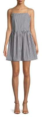 French Connection Striped Spaghetti-Strap Mini Dress