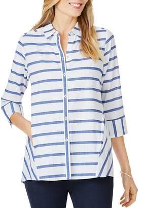 Foxcroft Carlene Nautical-Stripe Shirt