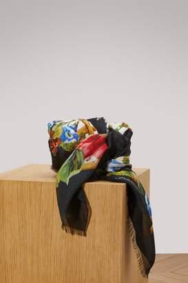 Dolce & Gabbana Bamboo print silk scarf