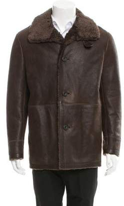 Vince Shearling-Lined Leather Coat w/ Tags