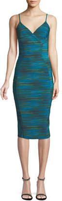 Chiara Boni Meghana Spaghetti-Strap V-Neck Cocktail Dress