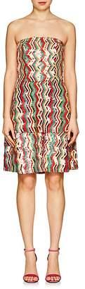 Osman Women's Franzi Striped Sequined Strapless Dress