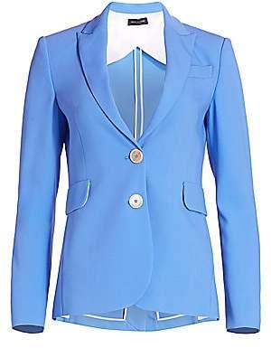 Piazza Sempione Women's Single Breasted Two-Button Blazer