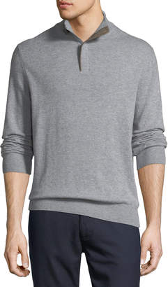 Ermenegildo Zegna Cashmere Half-Zip Pullover Sweater