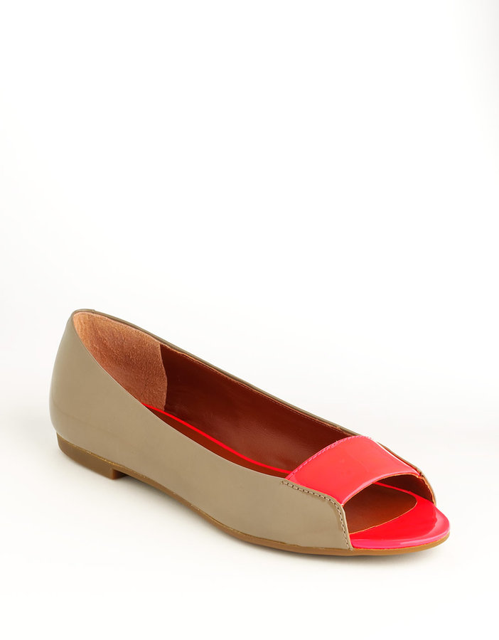 Marc by Marc Jacobs Open-Toe Leather Flats
