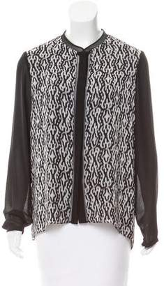 T Tahari Long Sleeve Button-Up Top