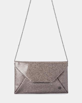 Olga Berg Tash Soft Glitter Clutch