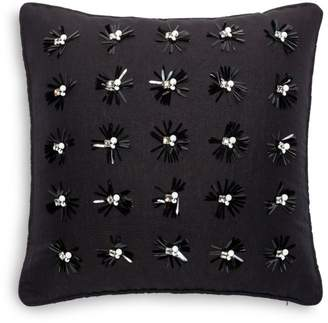 "Kate Spade Embellished Floral Decorative Pillow, 16"" x 16"""