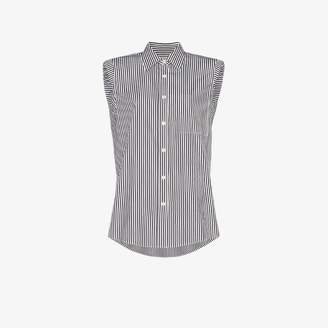 Dries Van Noten Casulo sleeveless pinstripe cotton shirt