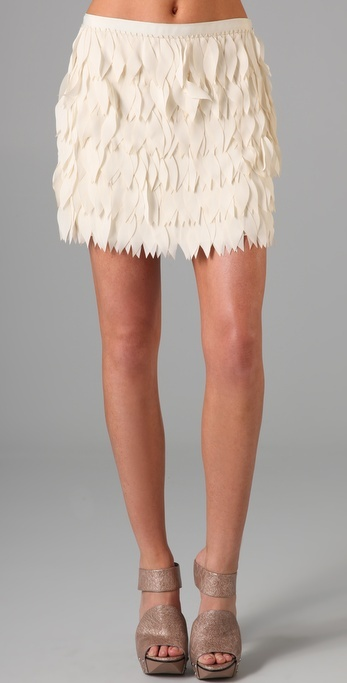 Haute Hippie Lazer Cut Leaves Miniskirt