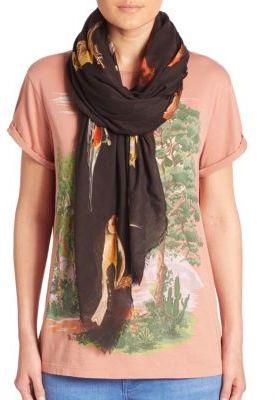 Stella McCartneyStella McCartney Bird-Print Silk & Modal Scarf