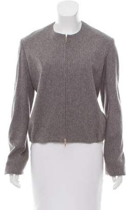 Edun Collarless Zip-Up Jacket