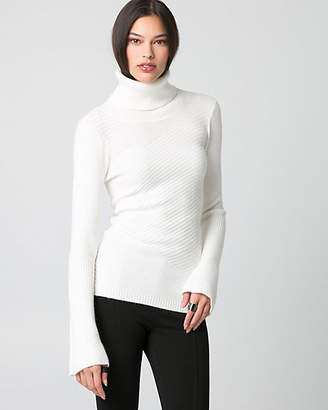 Le Château Rib Brushed Viscose Funnel Neck Sweater