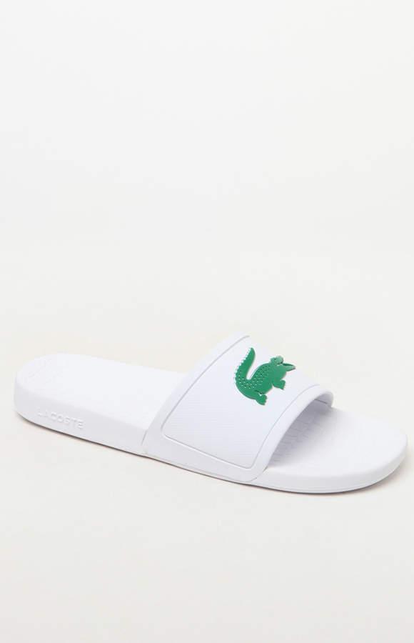 Lacoste Frasier 318 White Slide Sandals