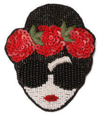 Alice + Olivia (アリス オリビア) - Alice+olivia 【japan Exclusive】lip & Staceface Flowers Brooch