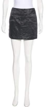 Theyskens' Theory Mini Satin Skirt