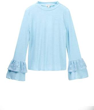 Love, Fire Bell Sleeve Lace Top (Big Girls)