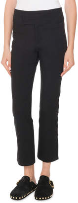 Isabel Marant Straight-Leg Cropped Stretch-Cotton Pants