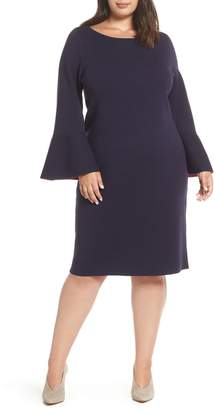 Eliza J Bell Sleeve Midi Sweater Dress