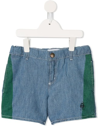 Bobo Choses Paul's embroidered denim shorts
