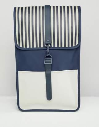 Rains Distorted Stripe Backpack