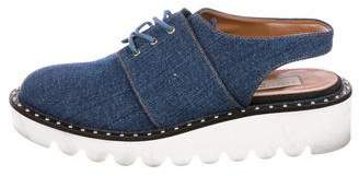 Stella McCartney Royal Denim Slingback Oxfords