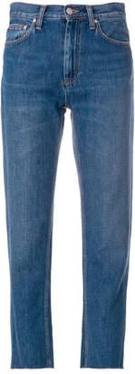Carhartt cropped raw hem jeans