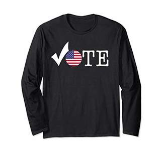 VOTE Election Civic Action Political Checkmark Flag Long Sleeve T-Shirt