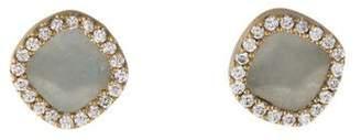 Monique Péan 18K Diamond & Jadeite Stud Earrings