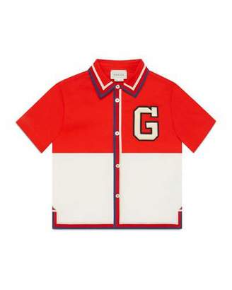 Gucci Colorblock G-Patch Polo Shirt, Size 4-12