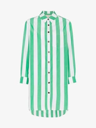 Mara Hoffman Bennet stripe print cotton shirt