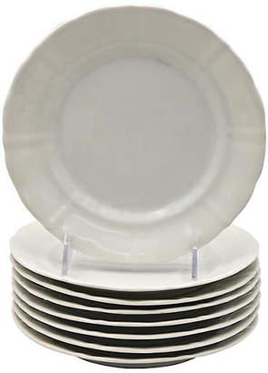 One Kings Lane Vintage Antique French Porcelain Plates - Set of 8 - Rose Victoria