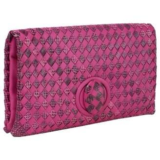 Bottega Veneta Pink Python Clutch bags