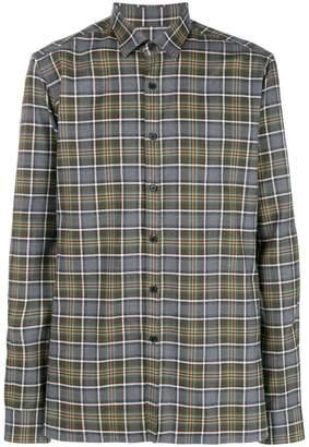 Lanvin long-sleeved check shirt