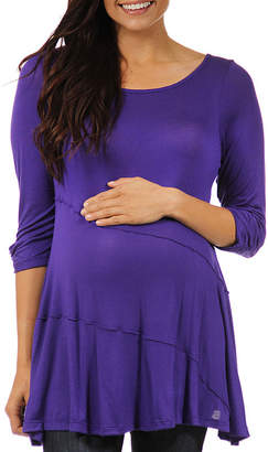24/7 Comfort Apparel Womens Knit Blouse-Plus Maternity