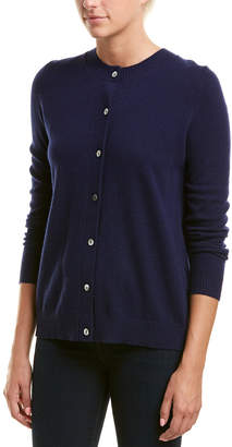 InCashmere Inverted Pleat Cashmere Cardigan