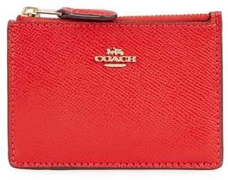 Coach Red Pebbled Leather Card Holder