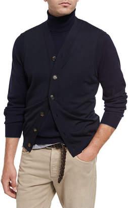 Brunello Cucinelli Fine-Gauge Wool-Cashmere Cardigan Vest