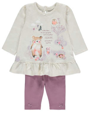 George Animal Applique Top and Leggings Outfit